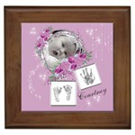 Framed Tile - Cute Baby Girl