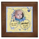 Framed Tile - Precious New Baby