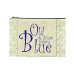 Old New Borrowed Blue Bridal Cosmetic Bag Large - Cosmetic Bag (Large)