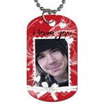 I Love You gift dog tag - Dog Tag (One Side)