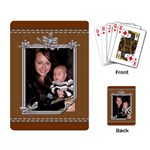 Brown Stitched Playing Cards - Playing Cards Single Design (Rectangle)