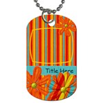 Extreme Fun Floral Tag - Dog Tag (One Side)