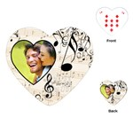 Must be the Music Heart Playing Cards - Playing Cards Single Design (Heart)