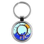 Sea - hey chain - Key Chain (Round)