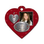 Libra Zodiac Heart Dog Tag - Dog Tag Heart (One Side)
