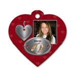 Pisces Zodiac Heart Dog Tag - Dog Tag Heart (One Side)