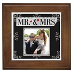 Mr. & Mrs. Framed Tile