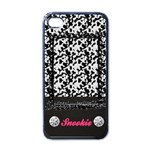 Cow Pattern-iphone case template(black) - iPhone 4 Case (Black)