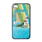 Beach, travel-iphone case template (black) - iPhone 4 Case (Black)