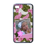 Pink cammo iphone case - iPhone 4 Case (Black)