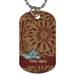 Moments Tag - Dog Tag (One Side)
