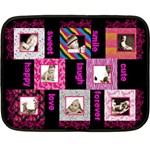 Funky Furs Fuschia Mini Fleece - Fleece Blanket (Mini)