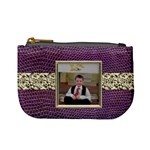 Purple Python Mini Coin Purse