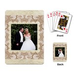 Damask Wedding Mocha playing Cards - Playing Cards Single Design