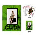 Jungle Cute playing Cards - Playing Cards Single Design (Rectangle)
