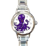 Angry Octo - Round Italian Charm Watch