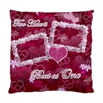Two Hearts Beat As One PINK Cushion Case - Standard Cushion Case (One Side)