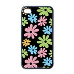 Black flower phone case - iPhone 4 Case (Black)