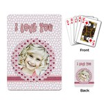 i love you playing cards - Playing Cards Single Design