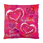You take My Breath Away Pink Heart rose Cushion Case Sample - Standard Cushion Case (One Side)