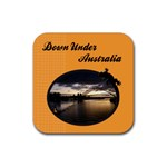 Australia Coaster - Rubber Coaster (Square)