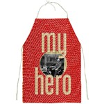 my hero red & beige full print apron