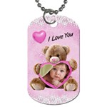 Valentine Love Dog Tag 1 side - Dog Tag (One Side)