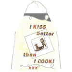 I kiss better than I cool full print apron