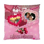 Love Notes Pink Envelope  Cushion Case - Standard Cushion Case (One Side)