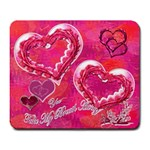 You Take My Breath Away Hearts n Roses Pink Mouse Pad - Large Mousepad