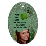 Lucky Irish Oval Ornament - Ornament (Oval)