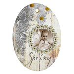 Spring Fairy Oval Ornament - Ornament (Oval)