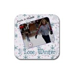 Candie & Maggie winter 2010 - Rubber Coaster (Square)