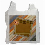 Orange flower recycle bag - Recycle Bag (One Side)