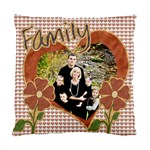 family pillow cushion heart - Standard Cushion Case (One Side)