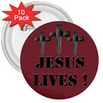 Easter 3 inch badge - 3  Button (10 pack)