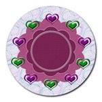 Heart U mousepad - Round Mousepad