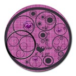 Love bubbles mousepad - Round Mousepad