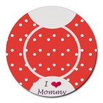 Love Mommy mousepad - Round Mousepad
