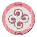 Family together mousepad - Round Mousepad