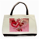 Love Notes pink tote with 2 frames - Basic Tote Bag