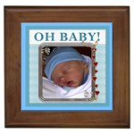 Oh Baby Boy Framed Tile