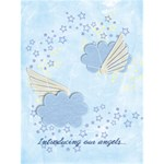 Baby annoucement card, twins or boy/girl - Greeting Card 4.5  x 6