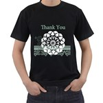 thank you - Men s T-Shirt (Black)