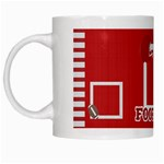 Touchdown (Black and Red) Mug 2 - White Mug