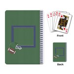 Touchdown (Green and Blue) Playing Cards - Playing Cards Single Design