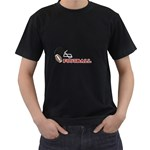 Touchdown (Black and Red) Black T-Shirt - Men s T-Shirt (Black)