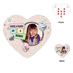 Cute & Fuzzy Easter Heart Playing Cards - Playing Cards (Heart)