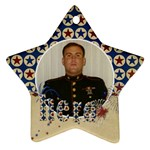 Hero/military ornament--star (2 sides) - Star Ornament (Two Sides)