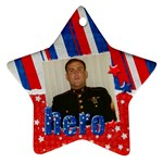 Hero/Military ornament-star (2 sides) - Star Ornament (Two Sides)